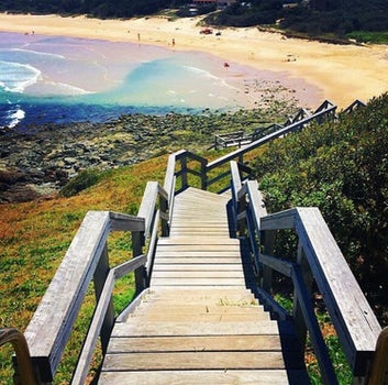 Walking Track down to the beach in Port Macquarie