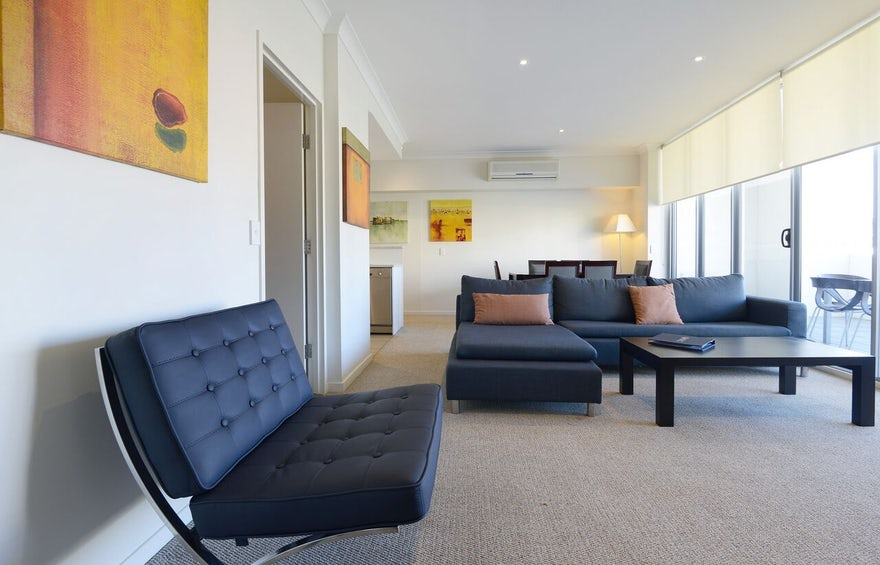 living area port macquarie two bedroom apartment