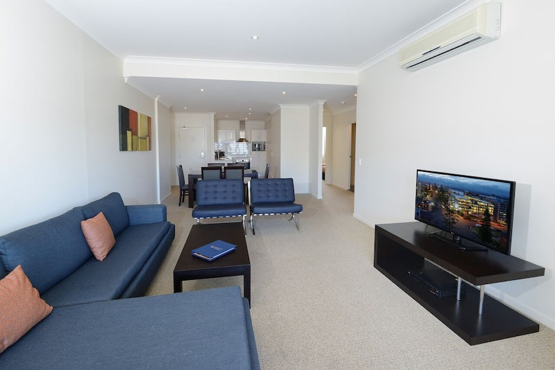 Two Bedroom Apartment Living Area Boutique Hotel Macquarie Waters