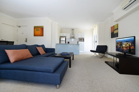 Port Macquarie Three Bedroom Apartment Living Area at Macquarie Waters