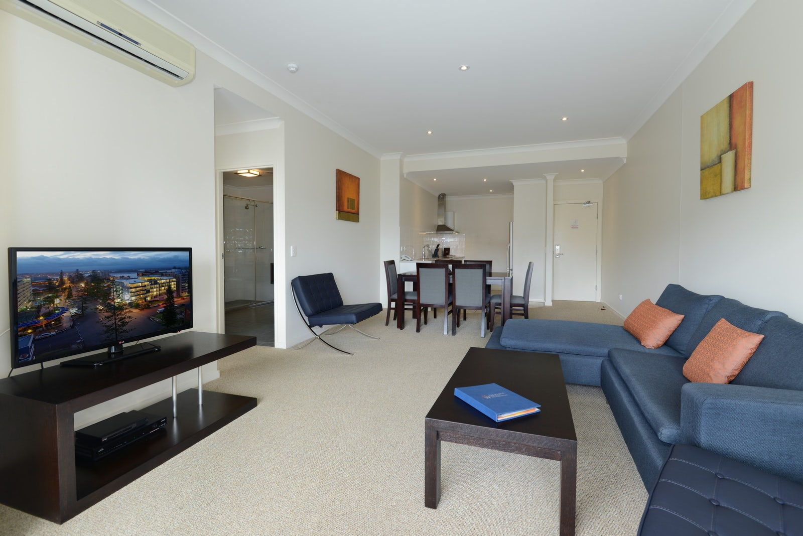 apartment with spacious lounge