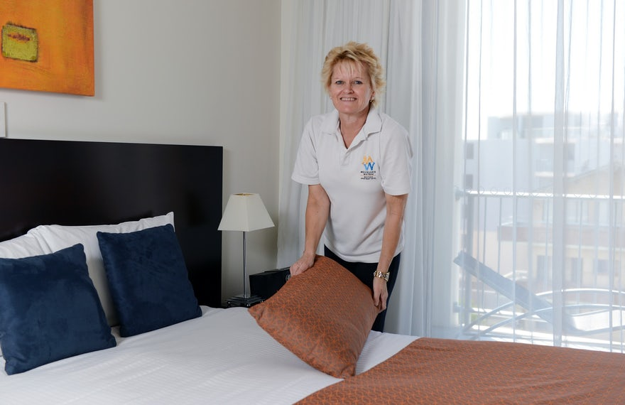 Hotel rooms services daily