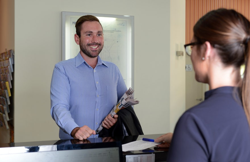 Corporate Traveller Checkin at Macquarie Waters Boutique Hotel