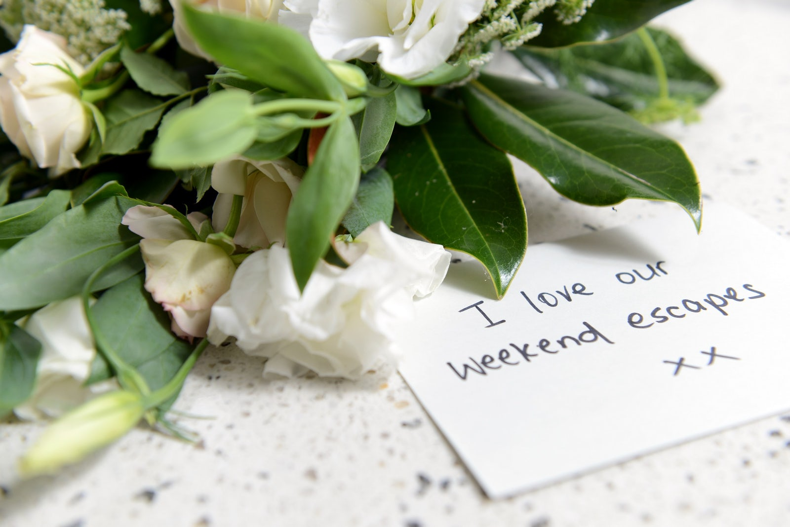 Flowers and Letter Guest Feedback