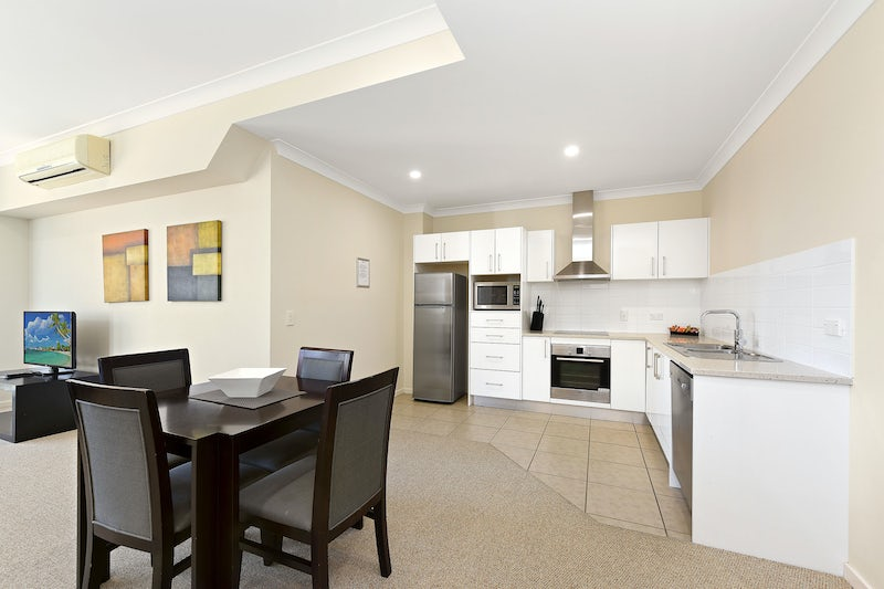 serviced apartment with kitchen