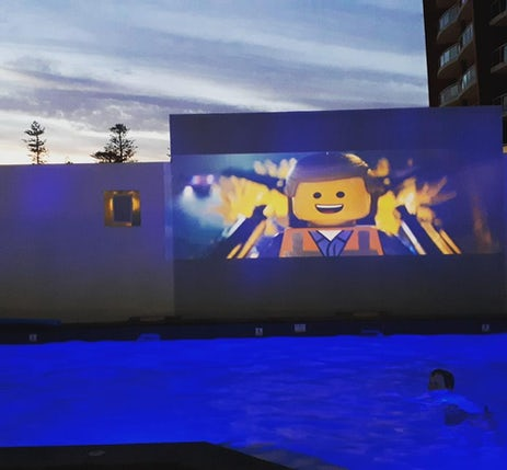 Apartment Outdoor Movie Theatre
