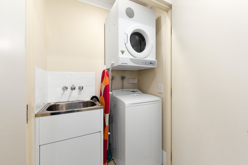 Laundry equipment in apartment