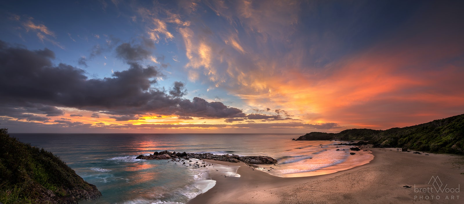 port macquarie sunset panorama